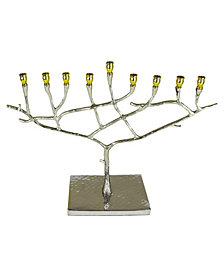 Classic touch Hammered Stainless Steel Candle Menorah