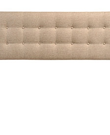 Tessie Twin Fabric Bed Frame with Squared Tapered Legs in Beige