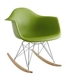 Modway Rocker Plastic Lounge Chair