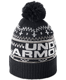 Under Armour Men's Logo Pom Pom Beanie