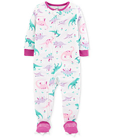 Carter's Toddler Girls Dino-Print Footed Pajamas
