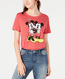 Modern Lux Juniors' Disney Mickey & Minnie Mouse Graphic T-Shirt