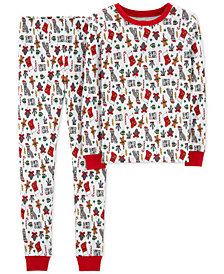 Carter's Little & Big Boys Holiday-Print Cotton Pajamas