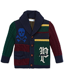 Polo Ralph Lauren Baby Boys Patchwork Merino Wool Cardigan