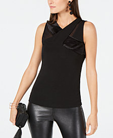 I.N.C. Velvet Crisscross Top, Created for Macy's