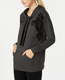 Ideology Flocked Hoodie, Created for Macy's