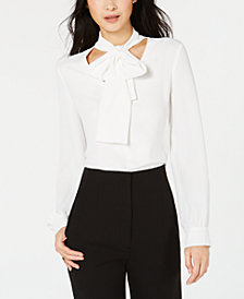 Bar III Bow-Tie Top, Created for Macy's