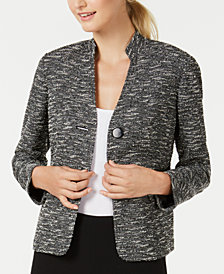Nine West Stand-Collar Jacket