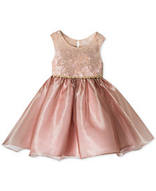 Rare Editions Little Girls Embroidered Party Dress