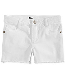 Epic Threads Little Girls Frayed-Hem Denim Shorts, Created for Macy's