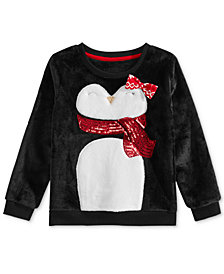Epic Threads Little Girls Plush Penguin Sweatshirt, Created for Macy's