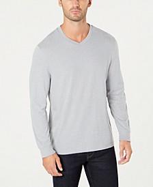 Men's V-Neck Long Sleeve T-Shirt, Created for Macy's