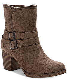 Style & Co Gigii Foldover Ankle Booties, Created for Macy's