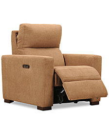 "Clynton 36"" Fabric Dual Power Recliner with USB Power Outlet"