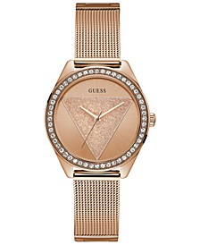 Women's Rose Gold-Tone Stainless Steel Mesh Bracelet 36.5mm