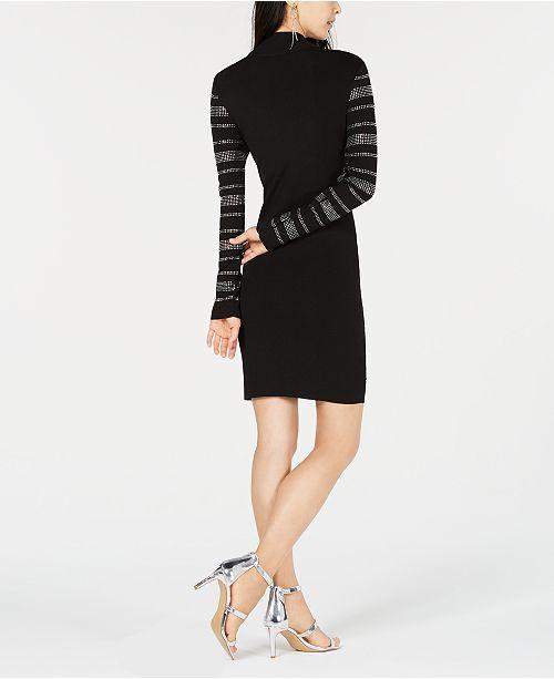d0b0803f5fc Bar III Rhinestone-Stripe Sweater Dress
