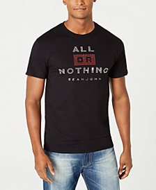 Sean John Men's All Or Nothing Studded Graphic T-Shirt