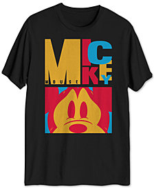 Colorblocked Men's Mickey Mouse Graphic T-Shirt