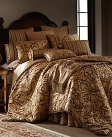 Botticelli Brown 3-piece Luxury Comforter Set