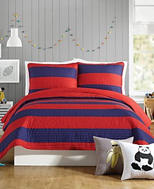 Lavelle Red Full/Queen Quilt Set - 3 Piece