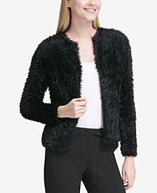 Calvin Klein Faux-Fur Cardigan Jacket