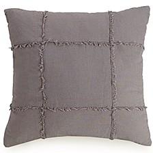 "Fringe Square 18"" Decorative Pillow"