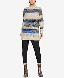 BCBGMAXAZRIA Striped Tunic Sweater
