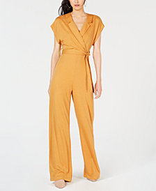 PROJECT 28 NYC Belted Wide-Leg Jumpsuit