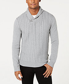 Sean John Men's Cable Knit Cardigan