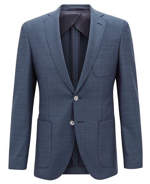 ... Hugo Boss BOSS Men s Extra Slim Fit Micro-Pattern Virgin Wool Jacket ... d93398126b0