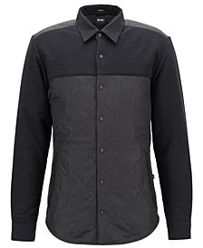 BOSS Men's Regular/Classic-Fit Quilted Shirt