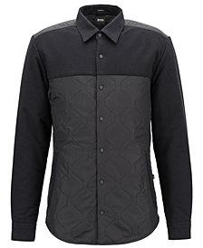 BOSS Men's Regular/Classic-Fit Quilted Shirt