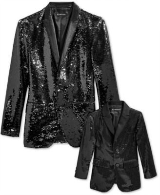 I.N.C. Men's Slim-Fit Reversible Sequined Blazer, Created for Macy's