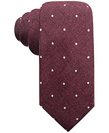 Ryan Seacrest Distinction™ Men's Umbria Printed Dot Slim Silk Tie, Created for Macy's