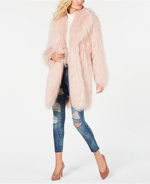 de9da6ae7f4fe GUESS Serenity Faux-Fur Teddy Coat   Reviews - Jackets   Vests ...