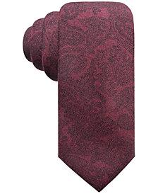 Ryan Seacrest Distinction™ Men's Pisa Printed Paisley Slim Silk Tie, Created for Macy's