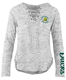 Women's Oregon Ducks Spacedye Lace Up Long Sleeve T-Shirt