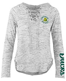 Pressbox Women's Oregon Ducks Spacedye Lace Up Long Sleeve T-Shirt