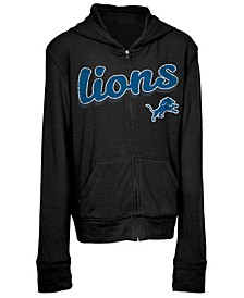 Detroit Lions Sweater Full-Zip Hoodie, Girls (4-16)