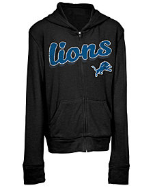 5th & Ocean Detroit Lions Sweater Full-Zip Hoodie, Girls (4-16)