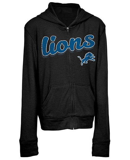 5th & Ocean Detroit Lions Sweater Full-Zip Hoodie, Girls (4-16)