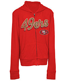 5th & Ocean San Francisco 49ers Sweater Full-Zip Hoodie, Girls (4-16)