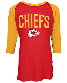 5th & Ocean Kansas City Chiefs Raglan T-Shirt, Girls (4-16)
