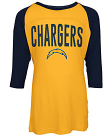 5th & Ocean Los Angeles Chargers Raglan T-Shirt, Girls (4-16)