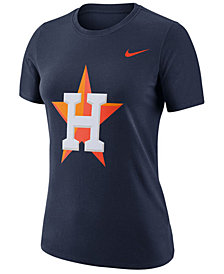 Nike Women's Houston Astros Cotton Crew Logo T-Shirt