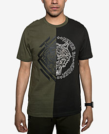 Sean John Men's Split Tiger Graphic T-Shirt