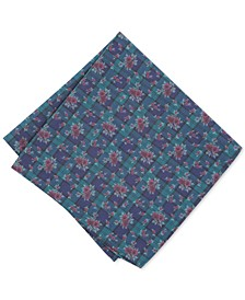 Men's Blackwatch Floral Pocket Square, Created for Macy's