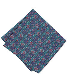 Bar III Men's Blackwatch Floral Pocket Square, Created for Macy's