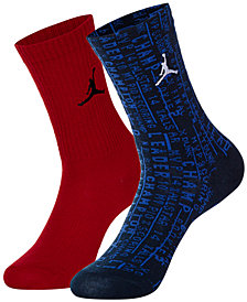 Jordan Little & Big Boys 2-Pk. Checklist High Crew Socks