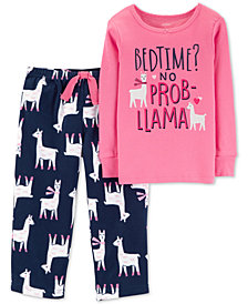 Carter's Toddler Girls Llama-Print Pajamas